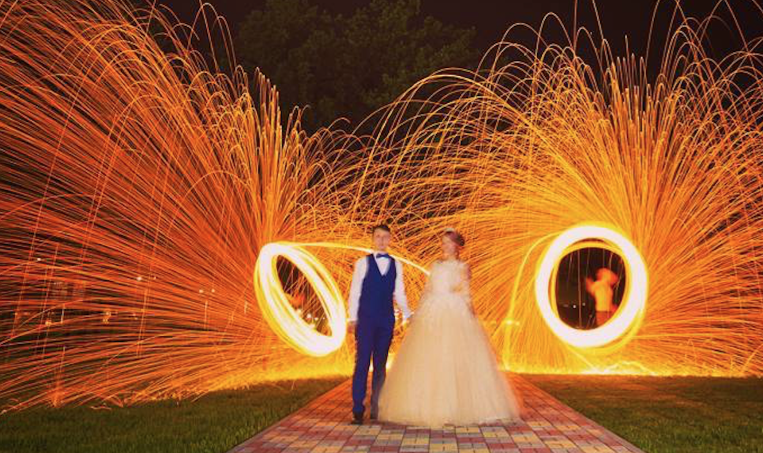 Заказать файер шоу на свадьбу
